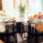 Kitchen supplies being used to make healthy meal