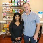 Dr. Simonds standing with Lovie Watson at Dr. Simonds Metabolics and Weight Loss office in Raleigh, NC