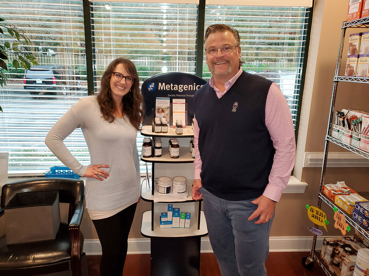 Dr. Simonds and Michelle Kennedy