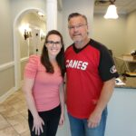 Dr. Simonds and Michelle Kennedy, NPC at Raleigh NC office